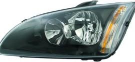 Фара левая (черная окантовка) Ford Focus II (2004-2010)